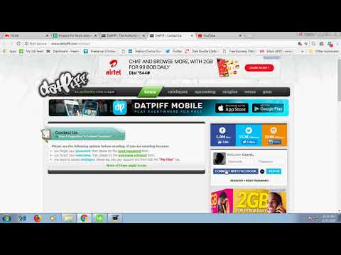 How to upload music or video onto Datpiff.com