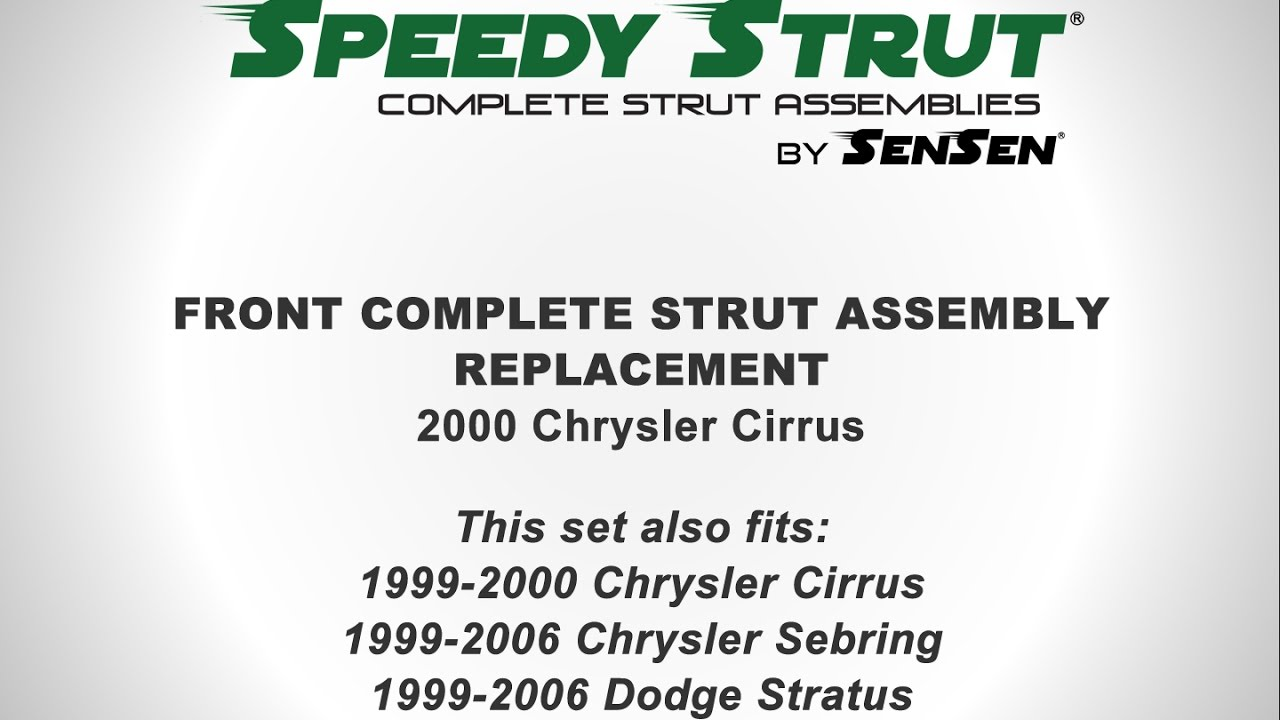 medium resolution of replacement of front complete strut assemblies on a 2000 chrysler cirrus l sensen shocks struts