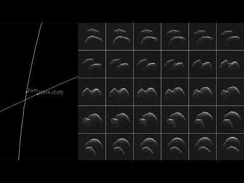 Near-Earth Asteroid 2014 JO25 – orbit & first images 2017