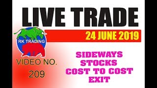 INTRADAY LIVE TRADE FOR 24 JUNE 20