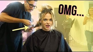 HE CUT MY HAIR ON SET!!