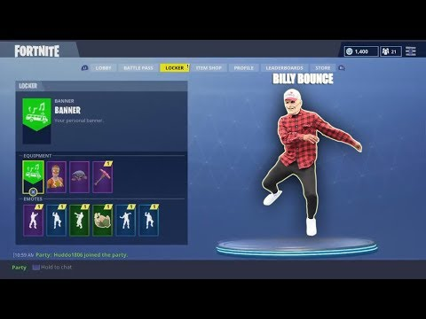 BILLYBOUNCEMAN DOES FORTNITE DANCES! (New Dance?)👀