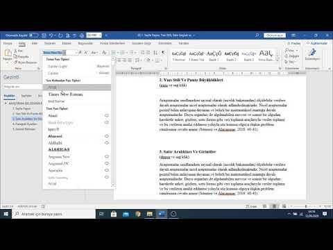 Sayfa Yapısı Nasıl Ayarlanır? Yazı Stil ve Paragraf Ayarları Nasıl Yapılır?
