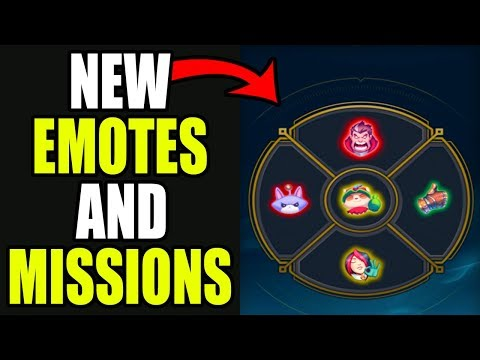 NEW EMOTES AND STAR GUARDIAN MISSIONS 2017 | League of Legends | Kobe lol