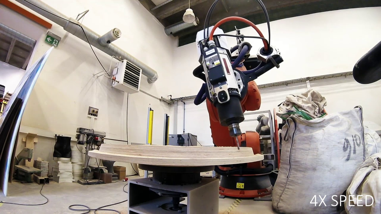 Mold Pattern Milling With Kuka Robot Youtube