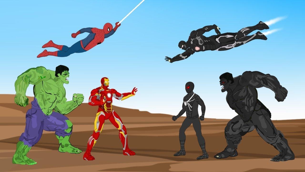 Download Hulk - Spiderman - Ironman VS Black Hulk - Black Spiderman - Black Ironman [HD] | SUPER HEROES MOVIE