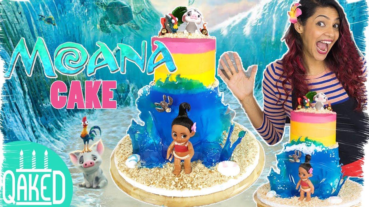 How To Make A MOANA CAKE With An Awesome ISOMALT WAVE