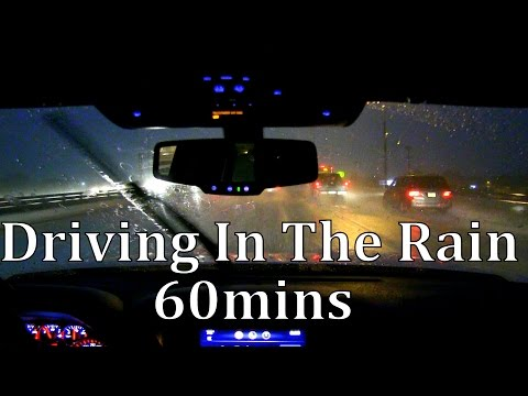 Driving in the Rain 60mins Sleep Sounds