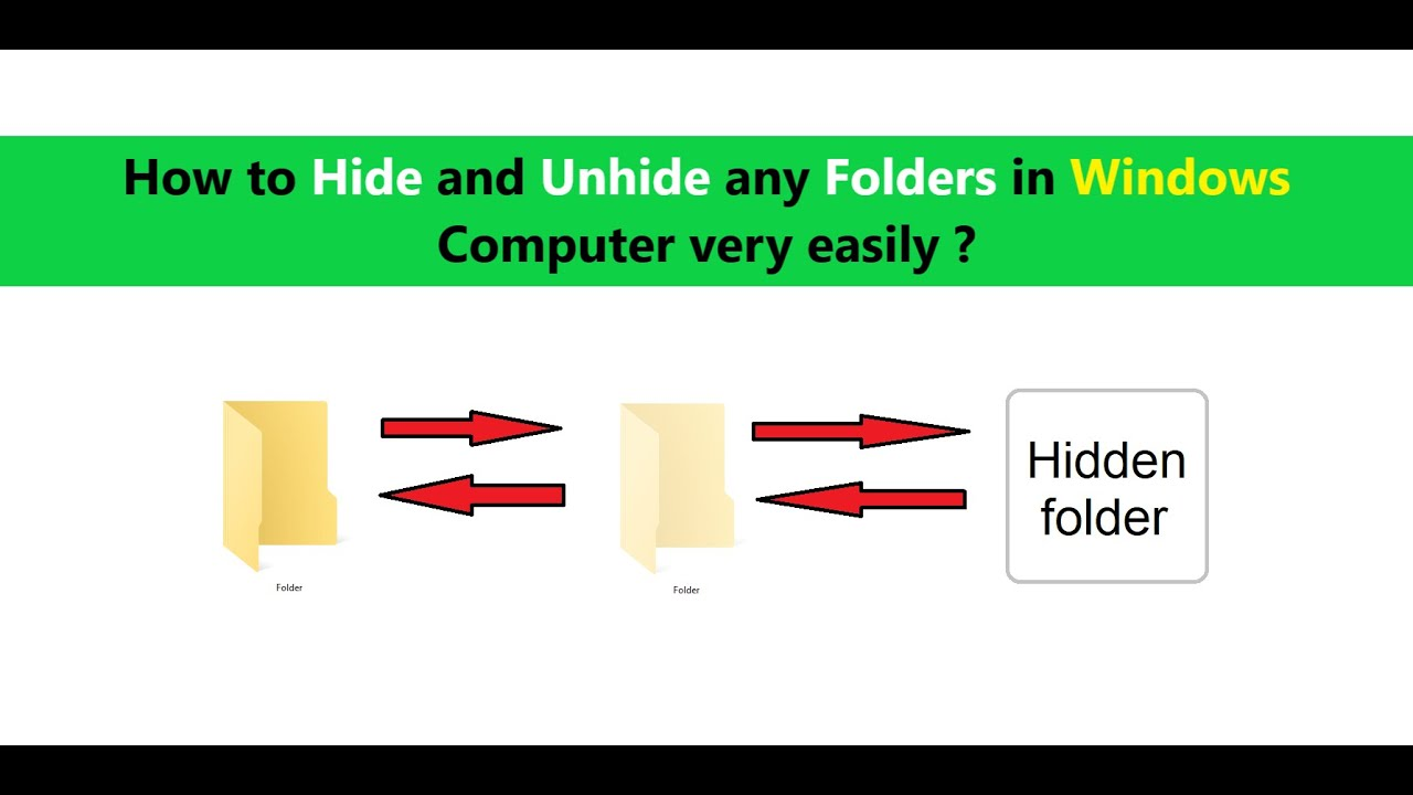 How to Hide and Unhide any Folders in Windows Computer ...