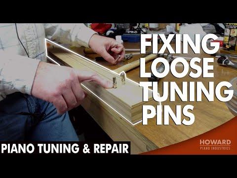 Piano Tuning & Repair - Fixing Loose Tuning Pins