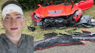 CRASHED MY DADS CORVETTE Z06 SCARE PRANK - SUPERCAR - CAR CRASH