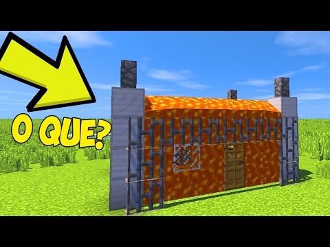 CASA TOTALMENTE DE LAVA NO MINECRAFT (LAVA HOUSE MINECRAFT)
