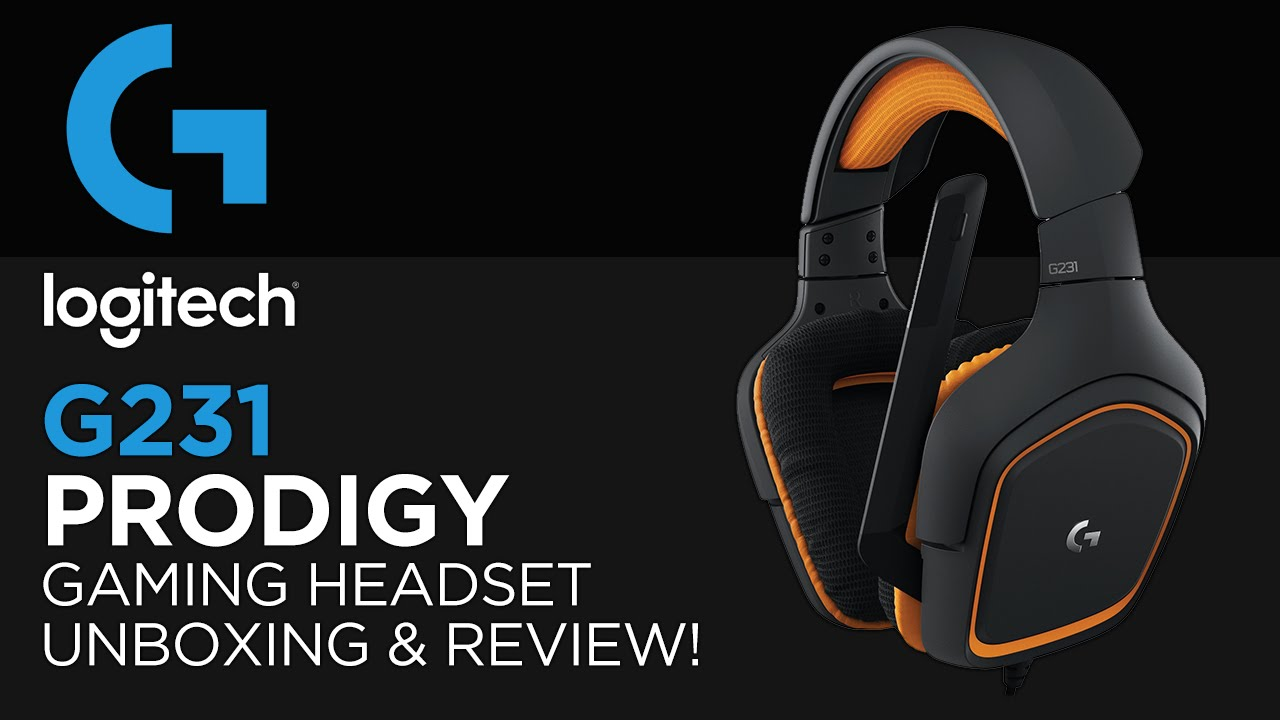 Logitech G231 Prodigy Gaming Headset Unboxing 62ccf0438a