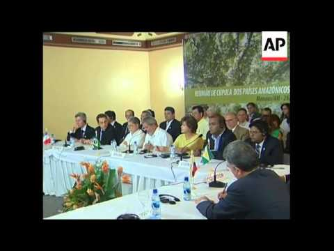Leaders of Amazon River basin natiions meet ahead of climate change conference