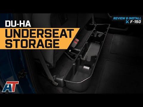 2015-2019 Ford F150 Crew Cab DU-HA Black Under Rear Seat Storage 20110