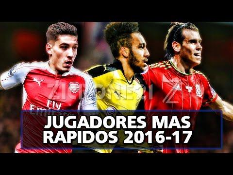 Los 10 Jugadores más rápidos del Mundo 2016/17 the fastest football players