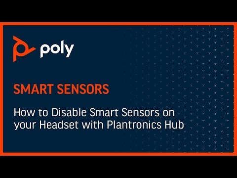 How to Disable Smart Sensors on your Headset