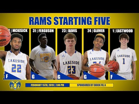 Lakeside Rams Basketball vs JA Fair   February 15th, 2019