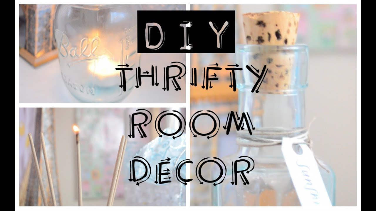 diy thrifted room decor zen hipster and beachy style haul youtube