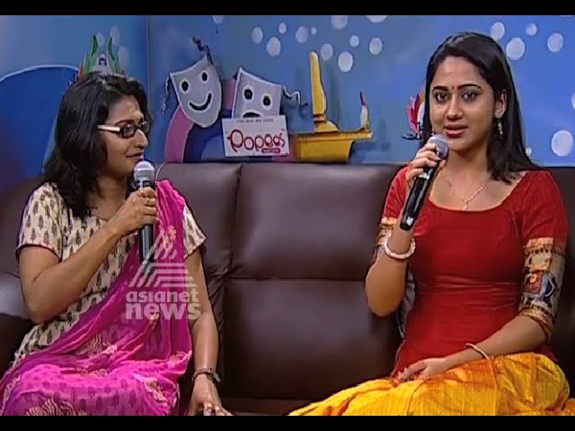 Actress Miya George Sharing experience with Asianet News in Kalolsavam event