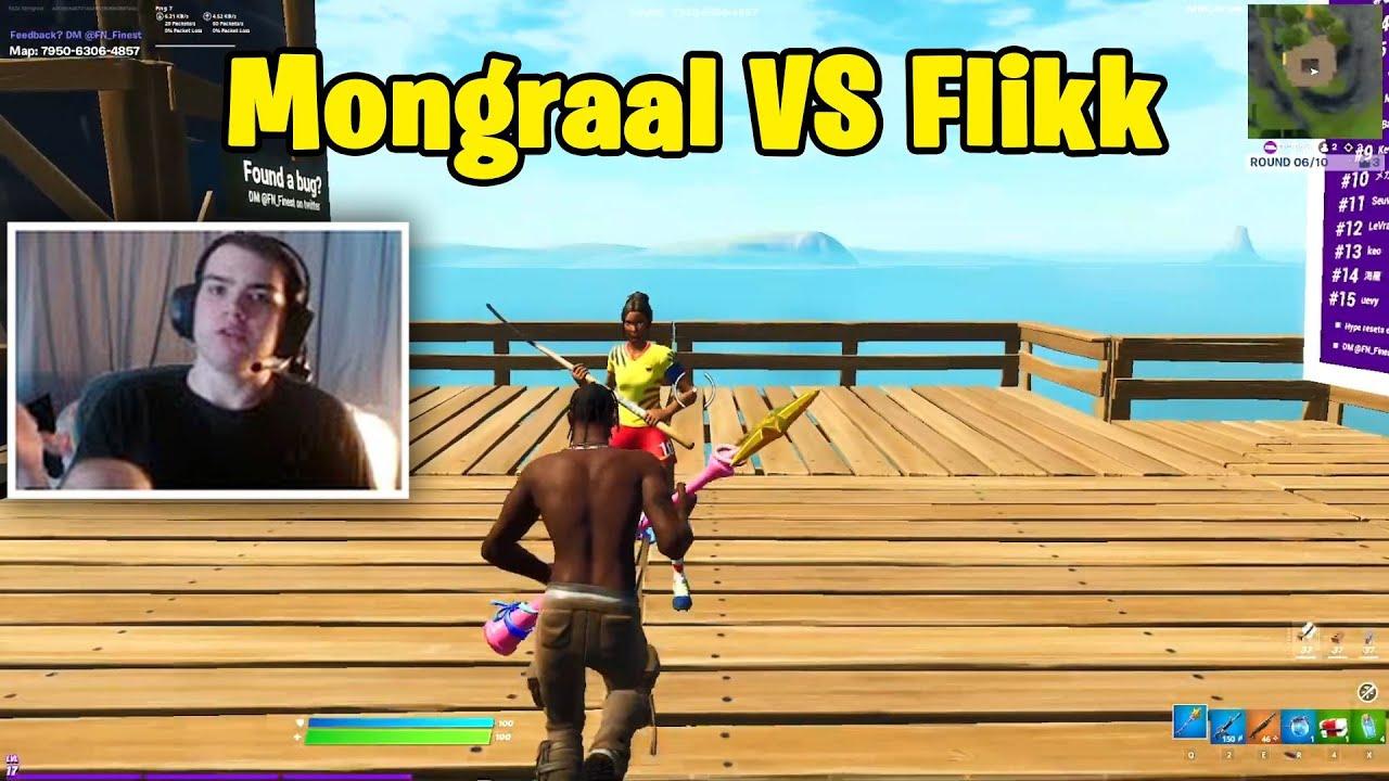 Mongraal VS Guild Flikk 1v1 Realistic PvP!!