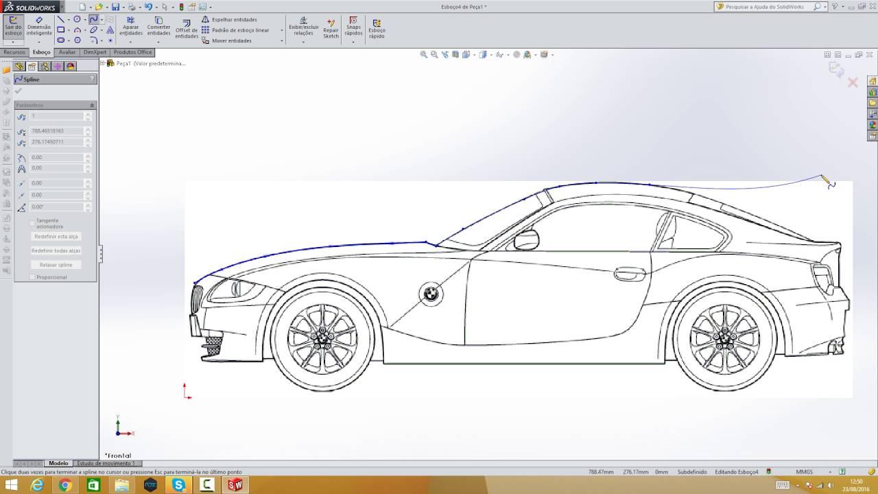 Desenho De Carro Bmw Parte 1 Youtube