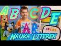 📚NAUKA LITEREK DLA DZIECI PO POLSKU A B C D E odc 1 - nauka alfabetu - ABECADŁO