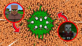 1000000 VILLAGERS VS PILLAGERS NO MINECRAFT BATTLE | Noob vs pro village