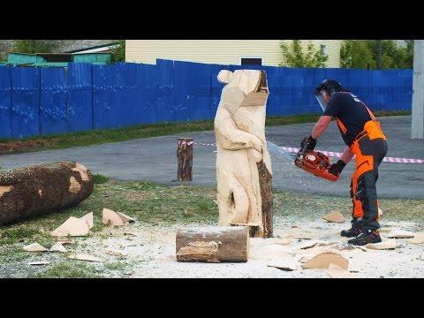 Выпилил Медведя из Дерева!