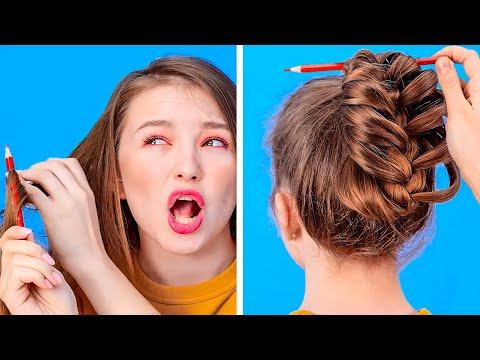 amazing-hair-hacks-that-will-save-your-day-||-funny-hair-problems-and-struggles-by-123-go!-gold