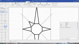 Как создать простую фигуру Visio на примере эмблемы МЧС