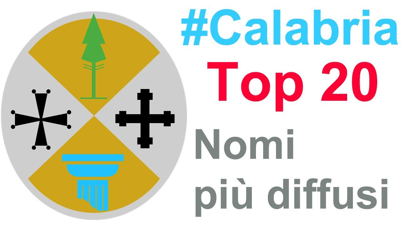 Calabria i 20 nomi maschili e femminili pi diffusi youtube for Nomi dei politici italiani