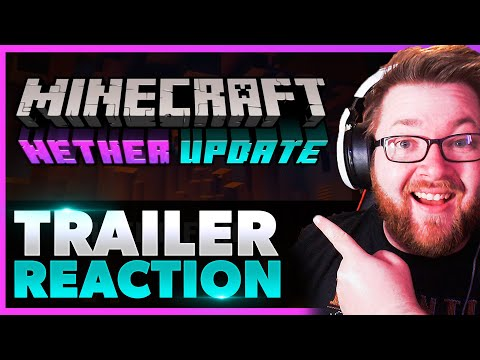 🟪 MINECRAFT NETHER UPDATE LAUNCH TRAILER REACTION! 🤯 Kazrisk Reacts