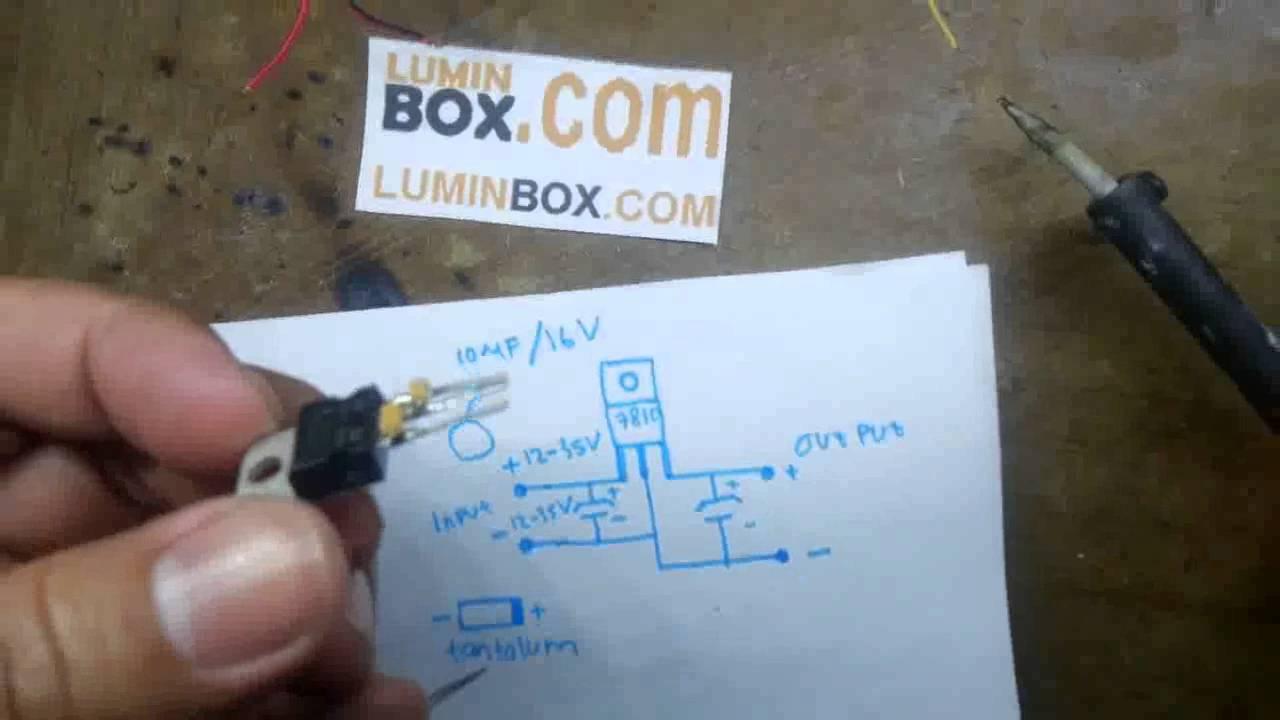Cara Buat Led Driver 10 Watt Pakai Ic L7810cv Youtube