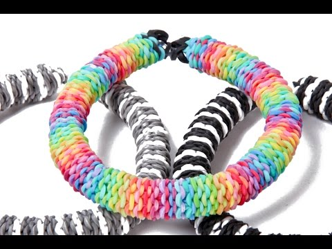 Inverted Hexafish - Rainbow Loom Nederlands Armband