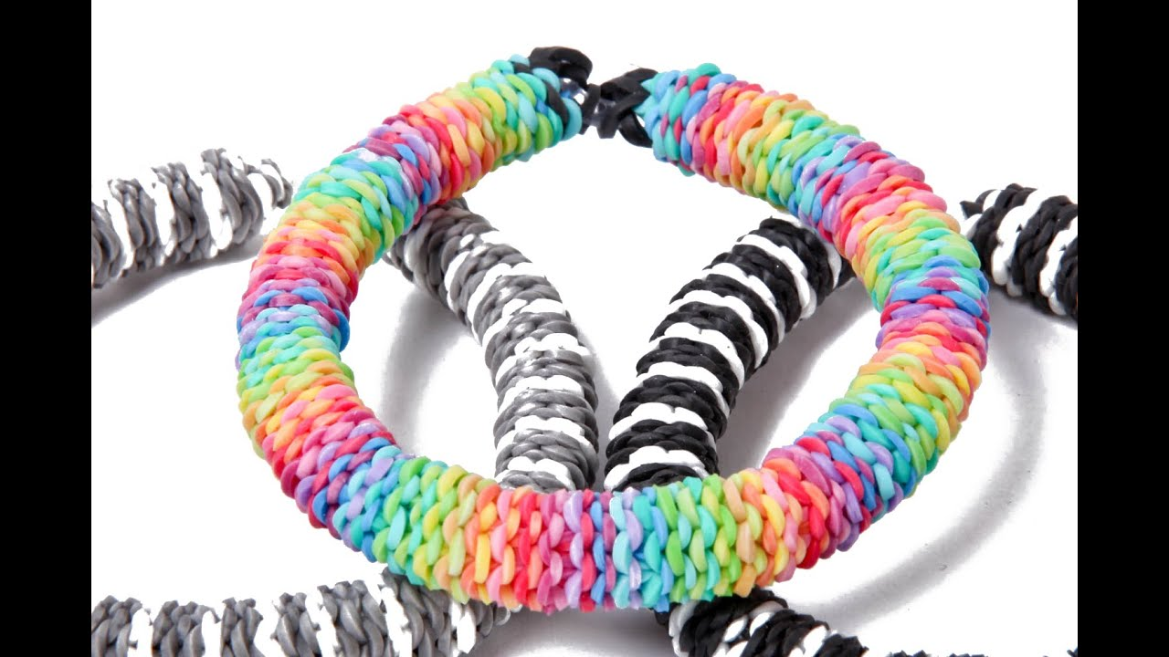 inverted hexafish rainbow loom nederlands armband youtube
