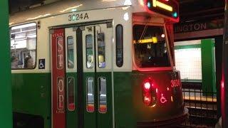 MBTA Green Line Light Rail Runbys 7/11-16/16