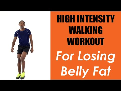 20 Minute High Intensity Walking Workout for Losing Belly Fat at Home