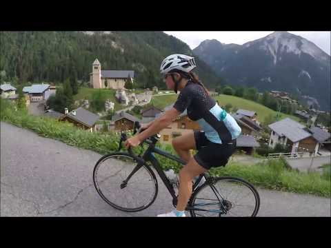 Cycling in the French Alps Cycle Tour Guide Travel Vlog - Champagny le Haut Vanoise @fabulousport