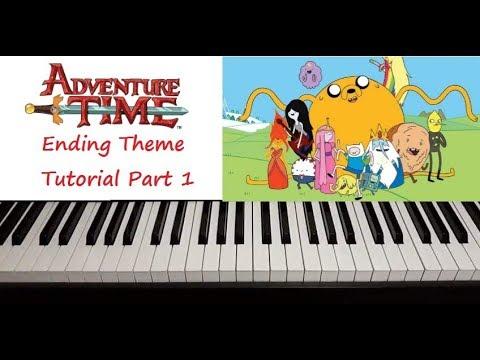 Adventure Time Ending Theme Full Song Tutorial  Part 1
