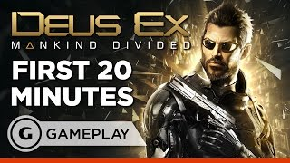 With augmented violence on the rise Adam Jensen joins the squad in the first 20 minutes of Deus Ex Mankind Divided Follow Deus Ex Mankind Divided at