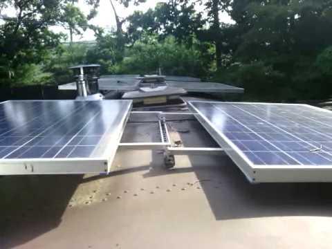 School bus motorhome solar panels