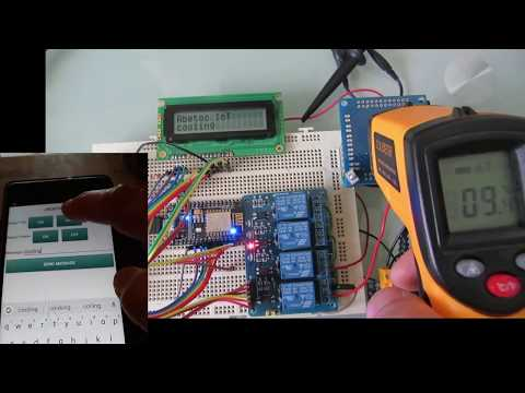 Arduino Peltier control sketch, managed from an Android App. LCD Chat messages