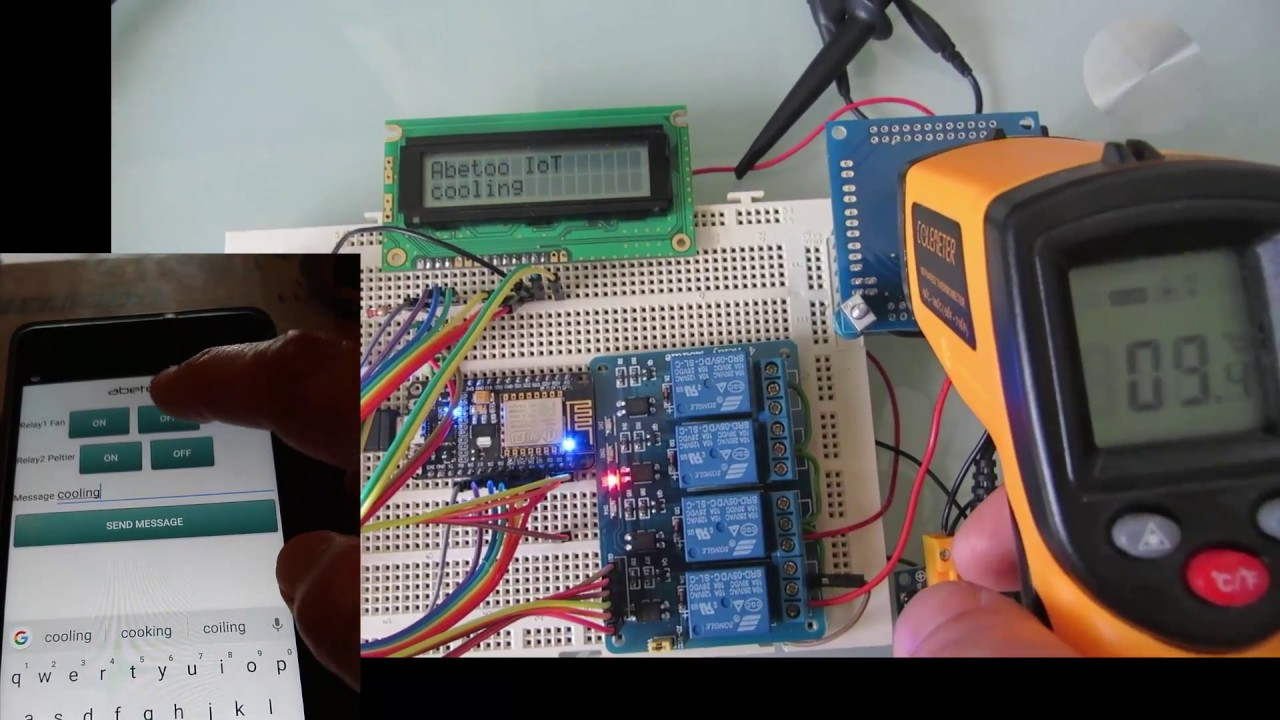 Arduino Peltier control sketch, managed from an Android App  LCD Chat  messages