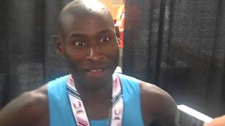 Bernard Lagat After Outkicking Galen Rupp To Get The 5000 Win At 2013 US Champs
