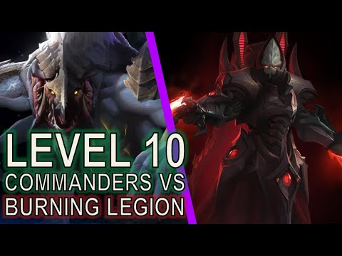 How it's done: Burning Legion with low level commanders | Starcraft II