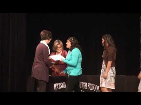 Watson Junior High School Academic Awards Program 2012