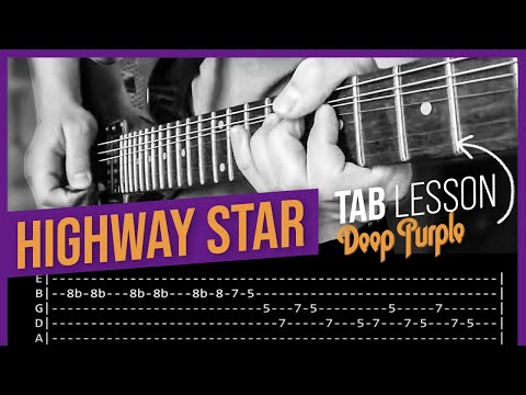 Highway Star Guitar Solo Lesson - Deep Purple (with Tabs) Pt 1