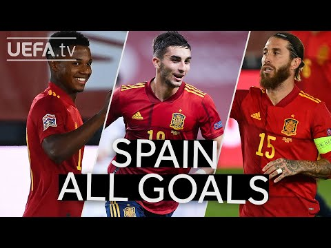 FATI, TORRES, RAMOS: SPAIN 2020/21 #UNL Group Stage All GOALS!!