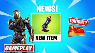 Hacker uses UNRELEASED Skin also New Item tomorrow! - Fortnite News (Earthquake event, Kitbash)
